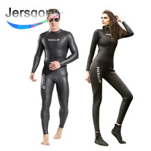 Jersqons Men 3/2MM SCS Triathlon Suit Yamamoto Neoprene Long Sleeve Swimsuit Surfing Wetsuit Swimming Suits