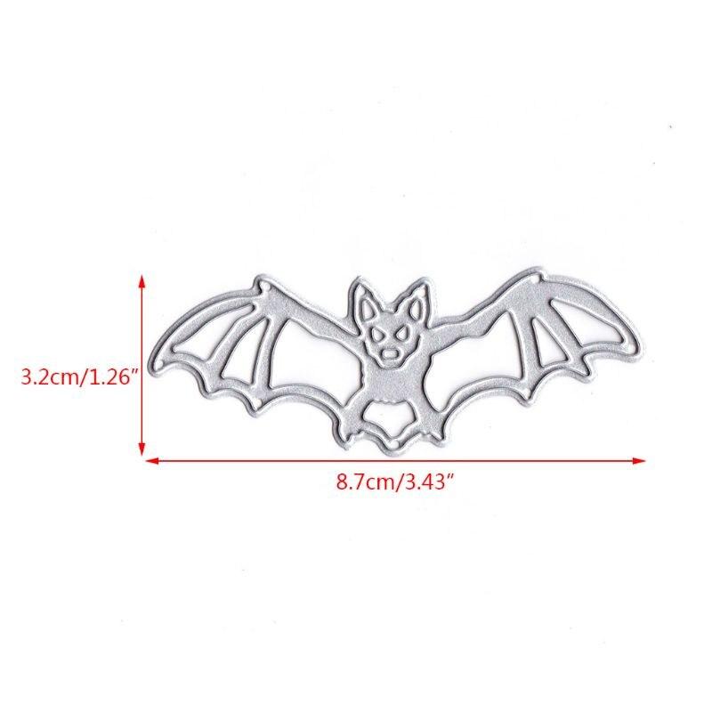Halloween Bat Place Card Metal Cutting Dies Stencil DIY Scrapbook Album Decor·