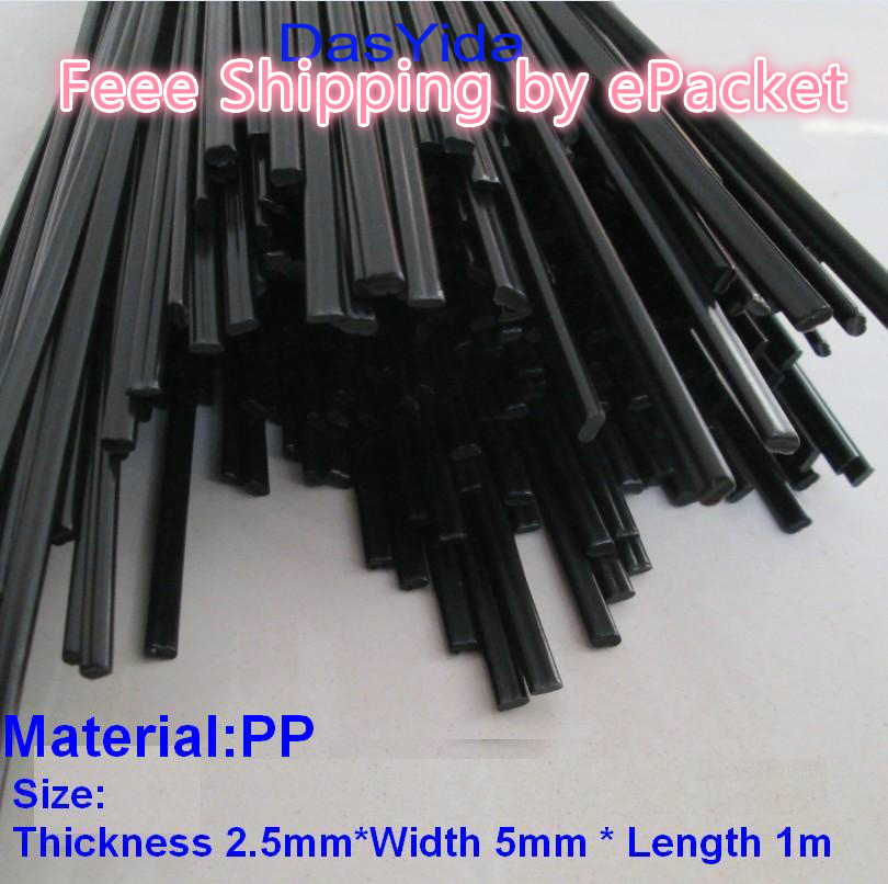 DasYida 10 PCS Black PP Plastic Welding Rods For Plastic Floor Welding Rod Automobile Bumper Plastic Welding Rod 1pc=1meter