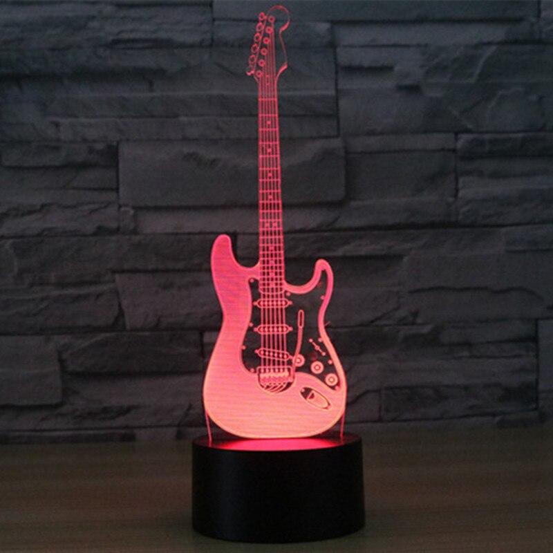 Aucd USB Touch Swtich Электрогитары свет в ночь акрил 3D видимого света удаленного красочные лампы детей подарок к празднику-342