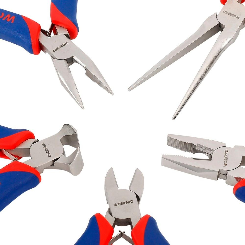 WORKPRO Mini Precision Pliers Set 5-Piece