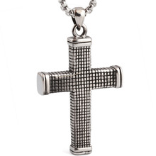 316L Stainless Steel fashion jewelry Gothic Cross Pendant necklace for Men