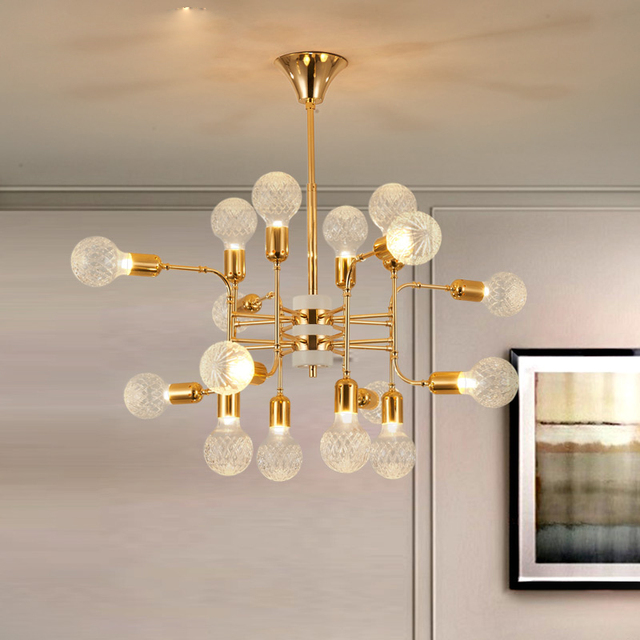 Delightful glass ball chandelier lighting luxury project light 1216 delightful glass ball chandelier lighting luxury project light 121624head creative living room mozeypictures Choice Image
