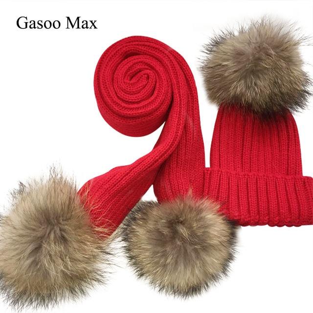 Crianças malha Lenço e Chapéu Conjunto de Inverno Chapéus de Crochê Quente  e lenços de Luxo 7c2db88b874