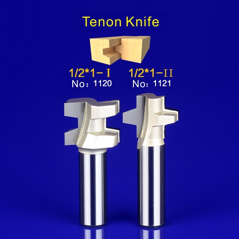 Unique 2Pcs Tongue & Groove Router Bit Set 1/2(12.7mm) Inch Shank tenon knife woodworking1120-1121/1133-1134/1143-1144 2pcs tongue