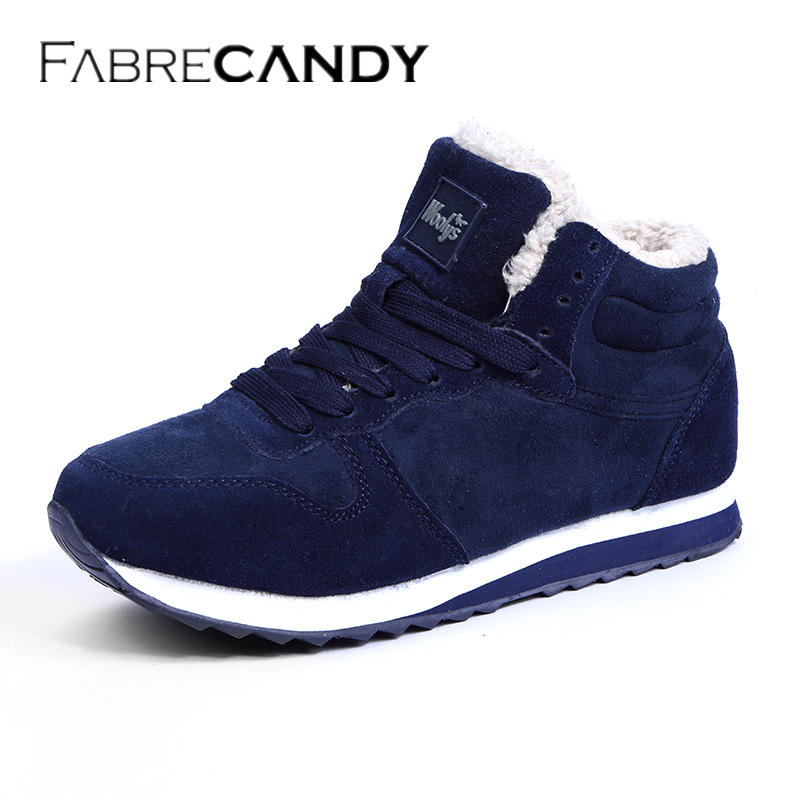 FABRECANDY Unisex Man Boot Fashion Men Winter Snow Boots Keep Warm Boots Plush Ankle Work Shoes Men Snow Boots sneakers 36-48 mycolen men boots 2017 winter cow leather snow boots british fashion men shoes men footwear thick bottom rubber ankle boot