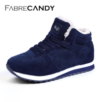 FABRECANDY Unisex Man Boot Fashion Men Winter Snow Boots Keep Warm Boots Plush Ankle Work Shoes