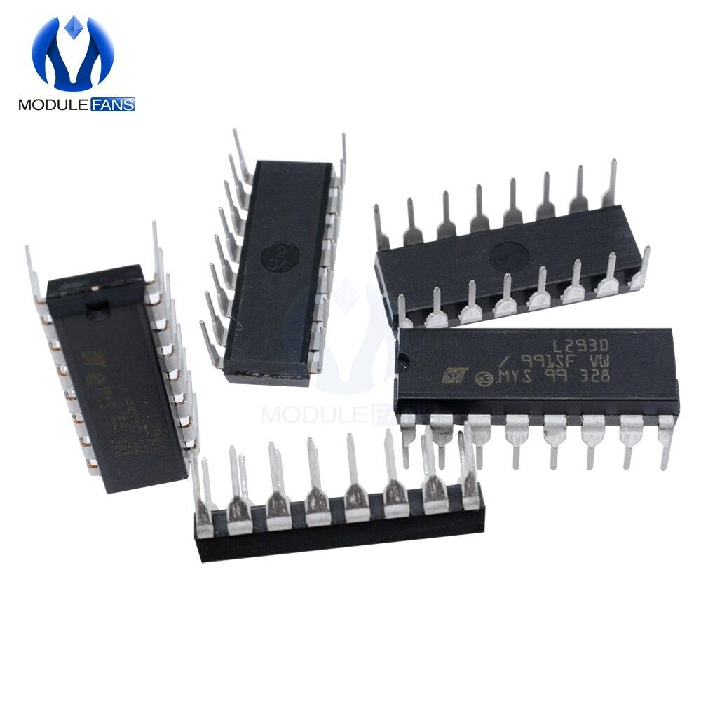 2 x L293D Motor Driver Chip Push Pull Four Channel Stepper H-bridge DIP IC