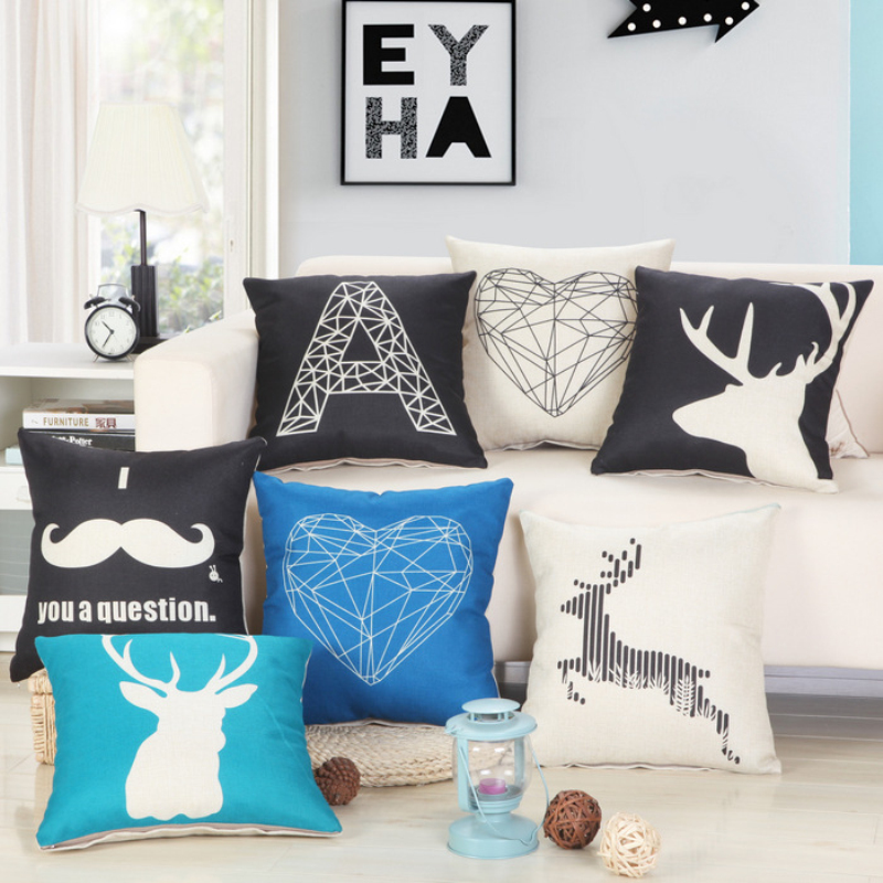 On sale 45cmx45cm Animals printing Home Decorative Pillow Covers Room Decors Car Throw Cushion Covers bedding Set