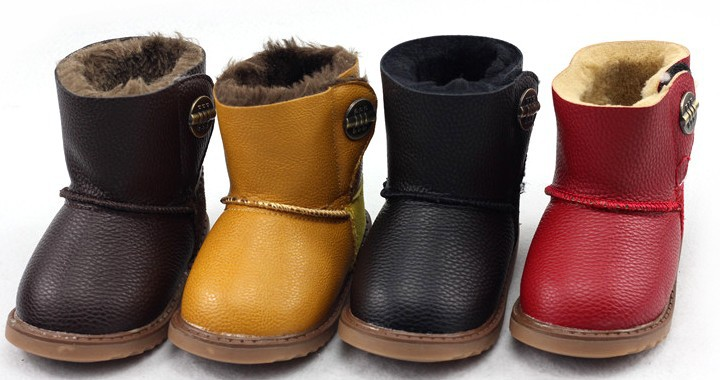 New 2017 design child snow shoes boys girls cotton boots children winter warm shoes non-slip water proof shoes 1-144