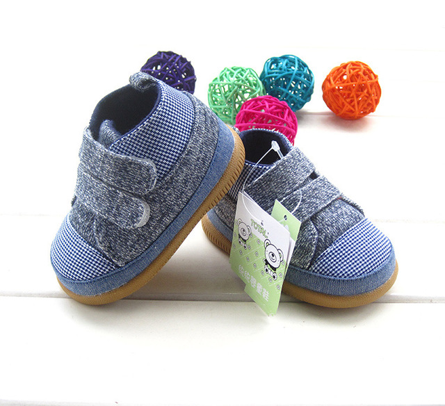 2017 New Baby First Walkers Baby Rubber Bottom Canvas Todder Shoes for Kids Baby Shoes