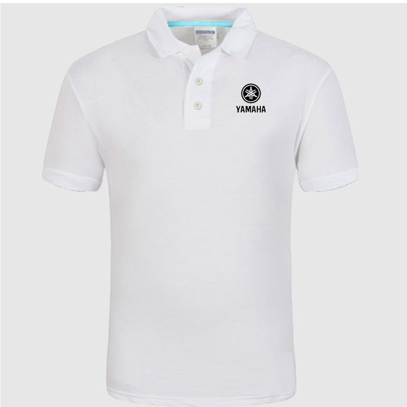 YAMAHA logo   Polo   Shirt Men summer Short Sleeve   Polo   Shirt Cotton spring Casual Men's   Polos