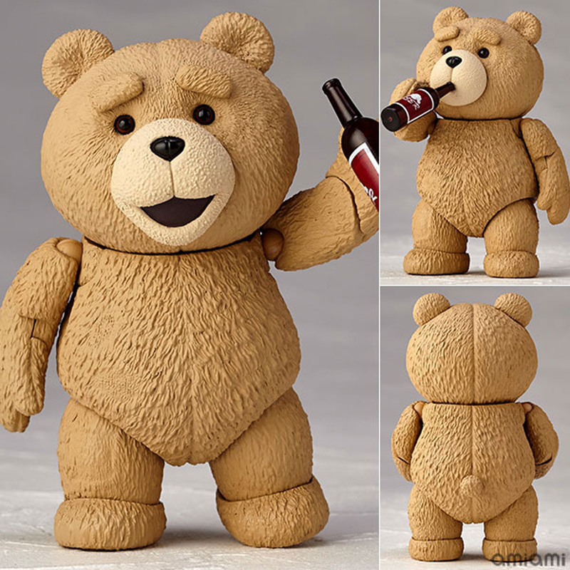 Movie #006 TED 2 Teddy Bear PVC Action Figure Collectible Model Toy 10cm new hot christmas gift 21inch 52cm bearbrick be rbrick fashion toy pvc action figure collectible model toy decoration