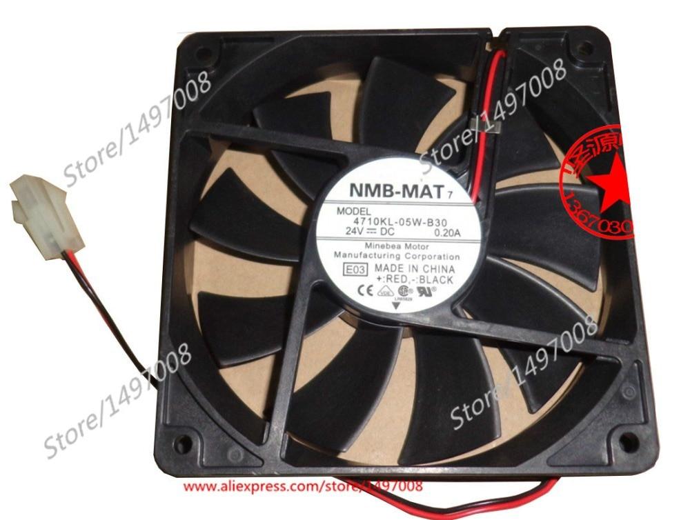 NMB-MAT 4710KL-05W-B30, E03 DC 24V 0.20A , 120x120x25mm Server Square fan sw 05w