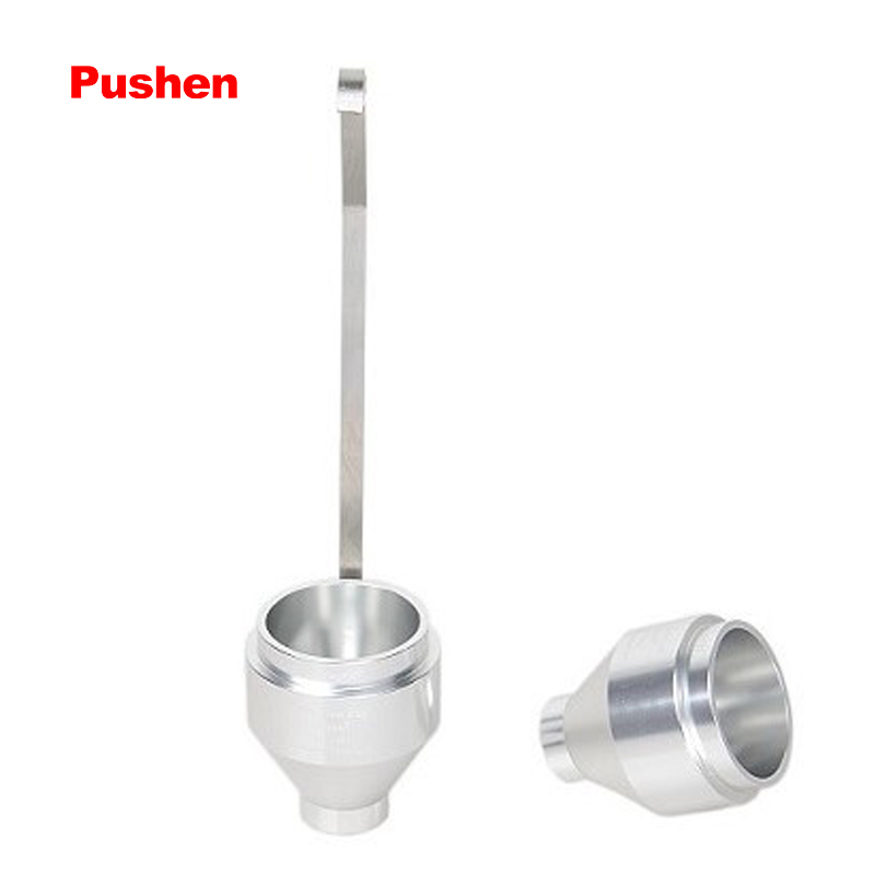 BRAND PUSHEN Paint Viscosity Cup 4 # Flow Dip Cups viscometer DIN 53211 With handle 2 3 5 6 8mm orifice diameter available ford cup viscosity cup viscosity measurement cup paint viscosity cup 3 4 optional page 3