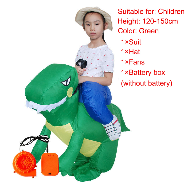 Inflatable Costumes Holiday Carnival Costume Funny Dinosaur Cosplay Halloween Costume for Kids Adult -MX8