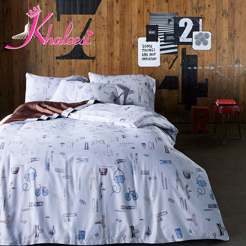 bed comforter cover pillowcase sheets 60s 100  Cotton Printed Floral  Flowered Duvet cover Queen King. Online Buy Wholesale bed comforter cover from China bed comforter