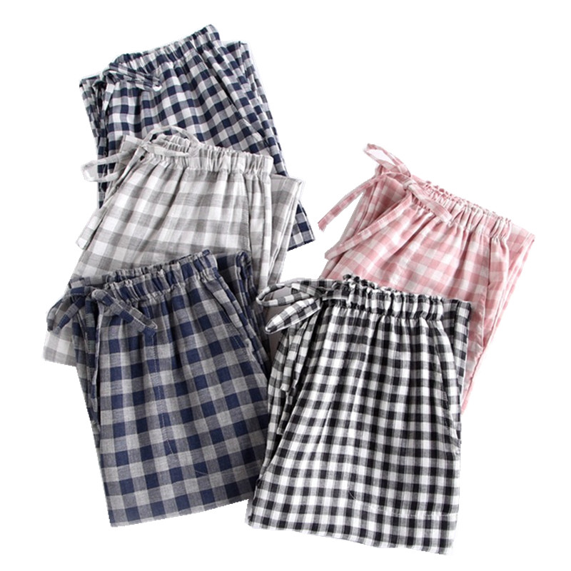 New Cotton Men Pajamas Loose Man Sleeping Pants Plaid Male Sleep Bottoms Men Pajamas Bottoms Sleep Pants Pyjama Trouser Homewear