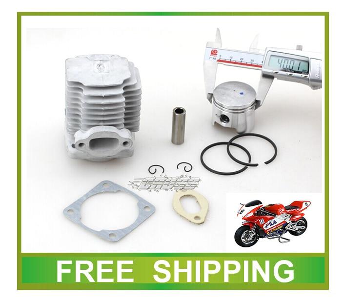 Bicicletas de bolsillo cilindro junta junta 40mm 44mm anillo de pistón pin 47cc 49cc mini moto atv quad accesorios envío gratis