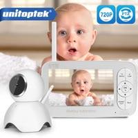 2.4G Wireless 720P Baby Monitor PTZ HD 5 inch LCD Screen Two Way Audio Sound Temperature Alarm IR Radio Music Nanny Camera DY01