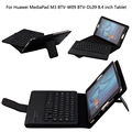 Wireless Bluetooth Keyboard +PU Leather Cover Protective Smart Case For Huawei MediaPad M3 BTV-W09/DL09 8.4 inch Tablet + Gift
