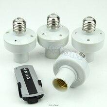 4 pçs controle remoto sem fio e27 lâmpada de luz suporte do bulbo tampão interruptor de soquete