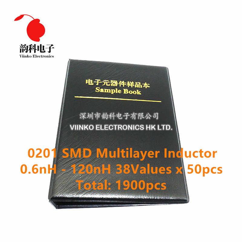 0201 0402 0603 0805 SMD//SMT Inductor Components Sample Book Assortment Kit DIY