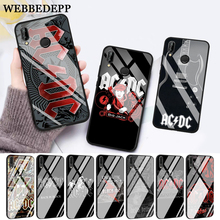WEBBEDEPP Music Band ACDC Glass Case for Huawei P10 lite P20 Pro P30 P Smart honor 7A 8X 9 10 Y6 Mate 20