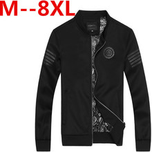 9XL 8XL 6XL 4XL New Arrival Spring Men's Jackets Solid Fashion Coats Male Casual Slim Stand Collar Jacket Men Outerdoor Overcoat