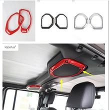 Lapetus Accessories Fit For Jeep Wrangler JL 2018 2019 Up Top Roof Stereo Speaker Audio Loudspeaker Molding Cover Kit Trim / ABS