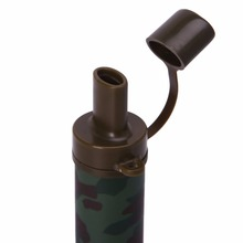 Outdoor Travel Personal Water Filters Straw Hiking Camping Travel Emergency Survival Tools Camouflage Color