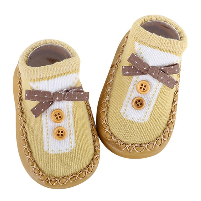 Mutter & Kinder Nett Bmf Telotuny Mode Cartoon Neugeborenen Baby Mädchen Jungen Baumwolle Stoff Anti-slip Socken Slipper Schuhe Aktien Apr13 Drop Schiff