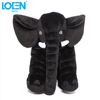 LOEN 1pcs Car Ornaments Car styling Elephant Plush Stuffed Toy For Office home travel trip Car Interior Accessories