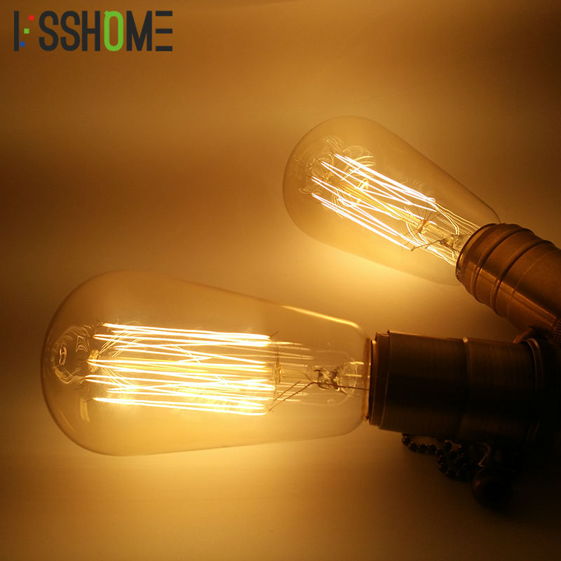 [VSSHOME] Edison Incandescent Bulbs 40W Vintage Retro Bulb AC110V/220V E27 Base Indoor Lighting ST64