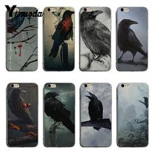 Yinuoda Animal Bird Black crow Diy Luxury High-end Protector phone Case For iPhone 6plus 6s 7plus 8plus X XS XR Coque Shell(China)