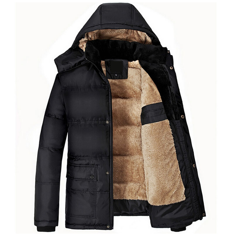 Fashion Winter Jacket Men Thick Warm Solid Cotton Parka Mens Winter Jackets And Coats Plus Size 5XL jaqueta masculino inverno