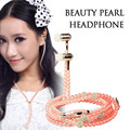 New Fashion Women Earphones Luxurious Headphone Bling Pearl Necklace Earphones for Girls Girlfriend Gifts Mobile Phone Mp3