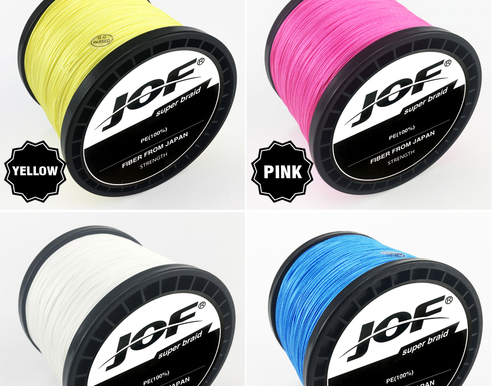 Multicolor 8 Strands 300M 500M 1000M PE Braid Fishing Line Sea Saltwater Fishing Weave 100% SuperPower JOF 14