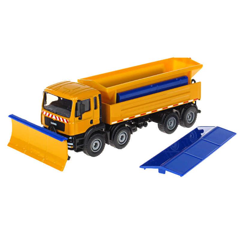 Anak-anak Paduan Model Kendaraan Mainan KAIDIWEI 1:50 Bajak Salju Truk Car Koleksi Logam Hadiah