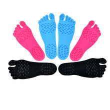 2017 1 Pair Adhesive Foot Pads Feet Sticker Stick On Soles Flexible Anti-slip Beach Feet Protection SK88 1 pair adhesive foot pads feet sticker stick on soles flexible anti slip beach feet protection best sale wt