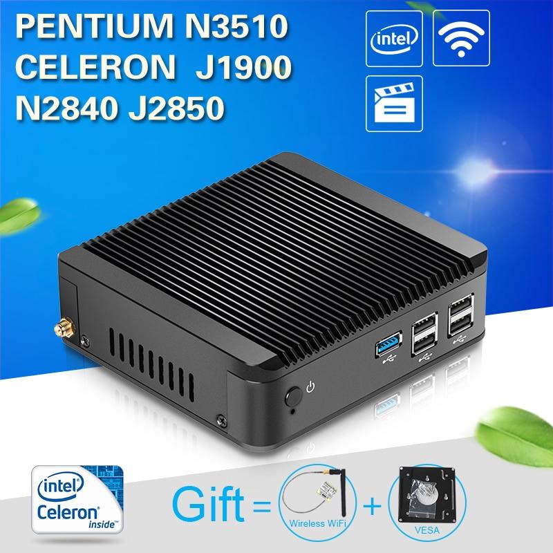 Mini PC Tablet N2830 N2930 J2800 J1900 N3510 Desktop Computer Htpc Cheap Mini Desktop PC Windows 7 Ubuntu мини пк eglobal oem windows 7 8 android xbmc intel pentium n3510 4g 8g ssd htpc v7 n3510