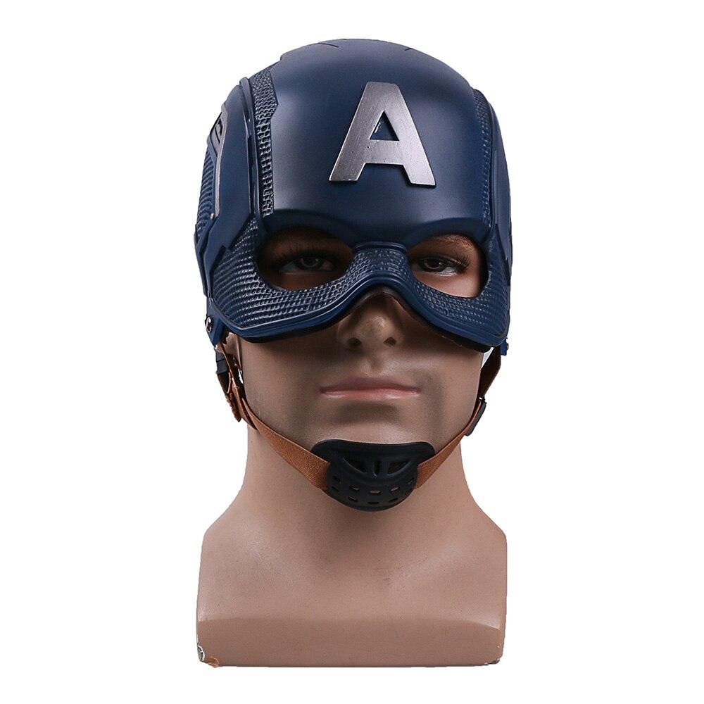 COS фильм супергерой гражданская война Капитан Америка шлем Косплэй Стивен Роджерс маска ПВХ Человек Взрослый Halloween Party опора