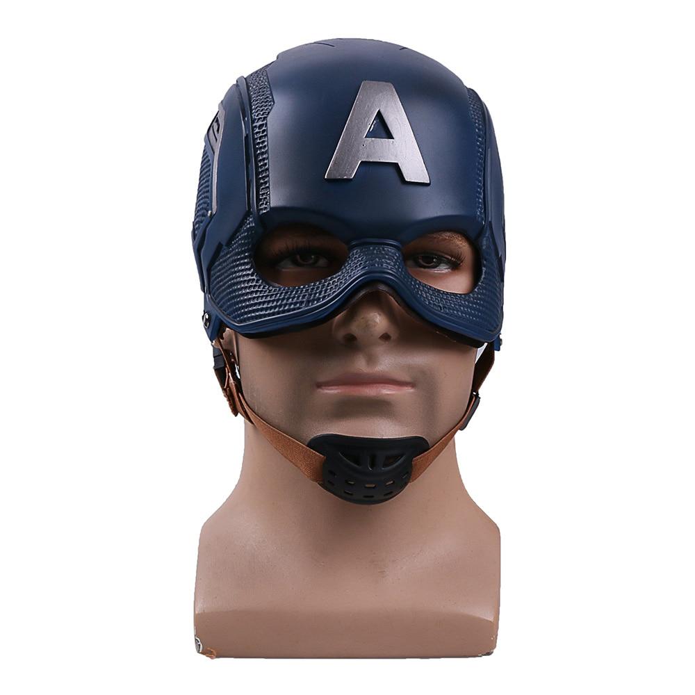 Cos Movie Superhero Civil War Captain America Helmet Cosplay Steven Rogers Mask PVC Man Adult Halloween Party Prop
