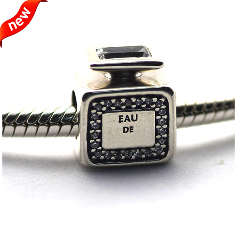 Fits Brand Bracelets Beads for Jewelry Making DIY Sterling-Silver-JEWELRY Signature Scent Bead Charms Kralen PERLES