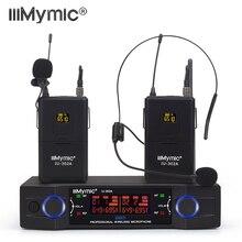IU-302A Профессиональный UHF 600-700 МГц двухканальный 2 поясной пакет+ 2 отворотом+ 2 гарнитуры беспроводной микрофон микрофонная система для DJ караоке