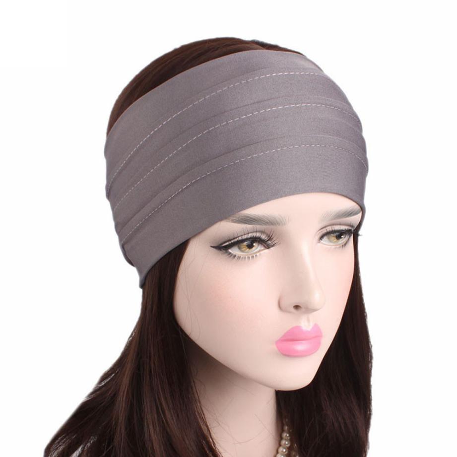 Korea Fashion 2018 Women Hair Accessories Linen Bandana Scarf Square Female  Bandanas Headwear Rock Cool Girls Headbands d9ef1618790