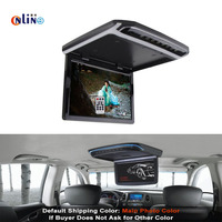 Online / Roof Mount Car HD LCD Color Monitor Flip Down monitor Overhead Multimedia Video Ceiling Roof mount Display Car Monitor