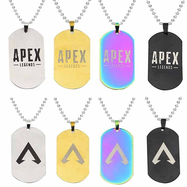 Hot game Apex legends colors necklace stainless steel Engraved Logo Pendants action figure toy gifts