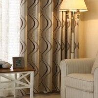 หนาหรูหราหยักลายออกแบบผ้าม่านสำหรับห้องนั่งเล่นห้องนอนตกแต่งบ้านโม