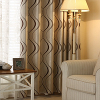 Thick Luxury Wavy Striped Curtain Design For Living Room Bedroom Home Decoration Modern Blackout Curtains Ready